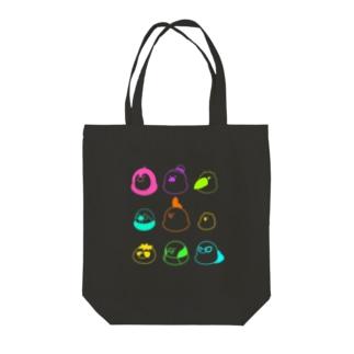 蛍光鳥 Tote bags