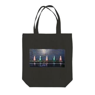カラーコーン・雨のスーパーファイヴ Tote bags
