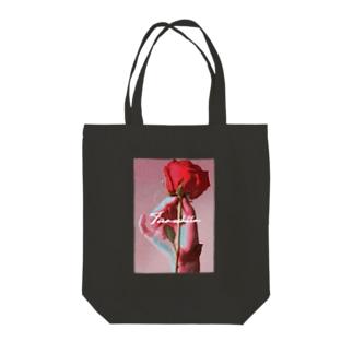 タノシー・イナのバラ Tote bags