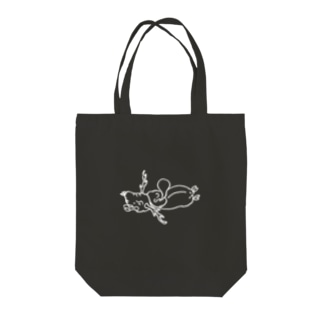 tarojiro(たろじろ)の剥製シュラフ Tote bags