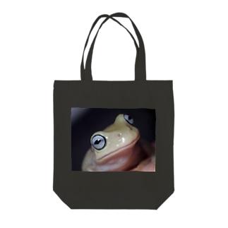 イエアメガエル ブルーアイ Tote bags