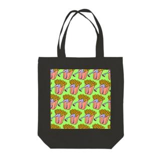 魅惑のフライドポテト🍟 GULTY PLEASURE FRENCH FRIES GREEN Tote bags