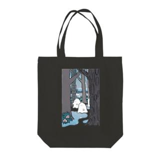 森のオバケちゃん(よる) Tote bags