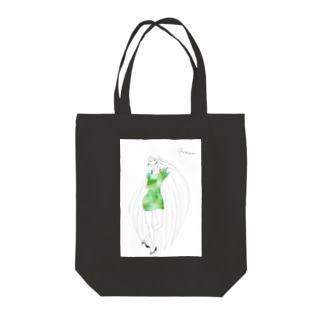 palette: Green (白背景) Tote bags