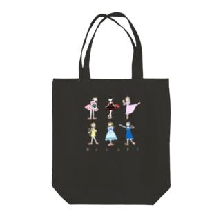 バレリーナ 大集結 Tote bags