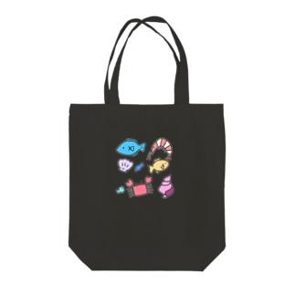 うみのさち濃色 Tote bags