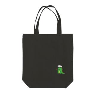 ガオー Tote bags