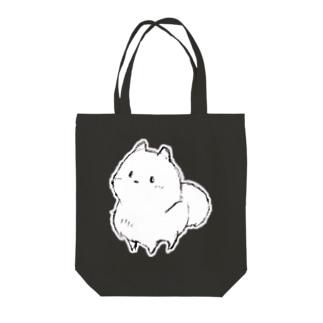 ハッピーポメ フチ有り 手描き Tote bags