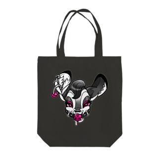 なまいき口枷バンビちゃん:グレー Tote bags
