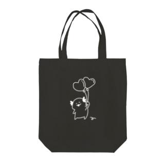ちびうぱと風船(White) Tote bags