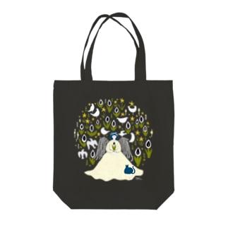 真夜中の水芭蕉 Tote bags