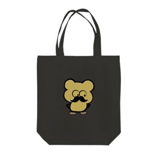 ヒゲおじ Tote bags