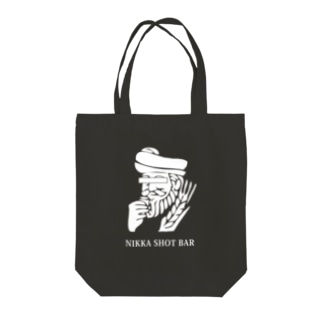 NIKKA SHOT BAR 大阪・高槻市のNIKKA SHOT BAR 白ロゴ Tote bags