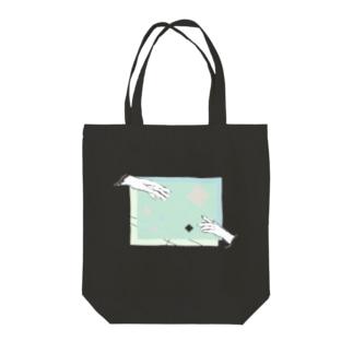 ツナガル Tote bags