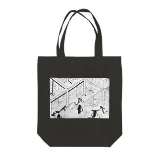鎌倉時代白描絵巻ぐっず Tote bags