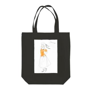 palette: Orange(白背景) Tote bags
