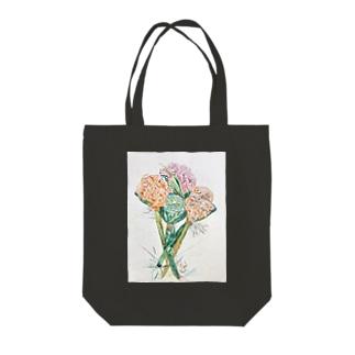 ケイトウ 蓮の実 Tote bags