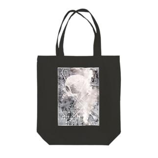 talk to me Tote bags