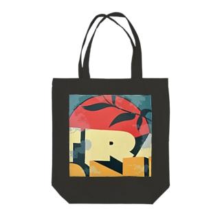 Rising Sun 'R' Tote bags