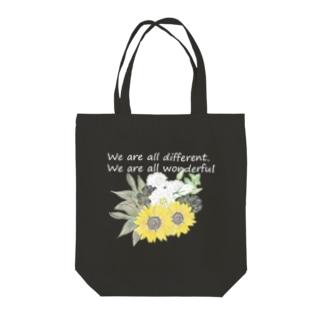 花を wonderful ver. 濃い色 Tote bags