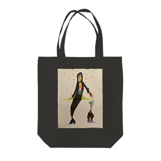ガジュマル女 Hello  Tote bags