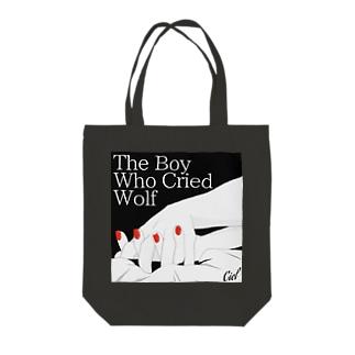オオカミ少年 Tote bags