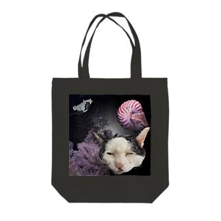 ふじおシュールシリーズ オウムガイ Tote bags