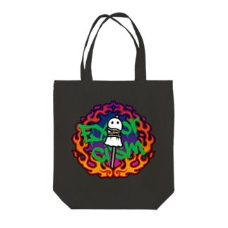 火あぶりおばけ(赤) Tote bags