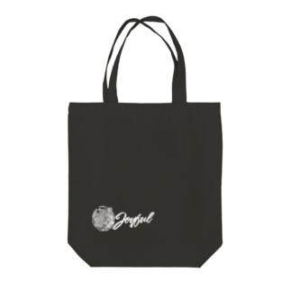 JOYFUL | Looking Right | Left Bottom | Positive white Tote bags