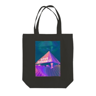 LOVE PYRAMID Tote bags