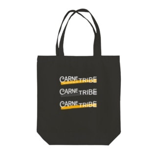 CarneTribe 3連ホワイトロゴ トートバッグ Tote bags