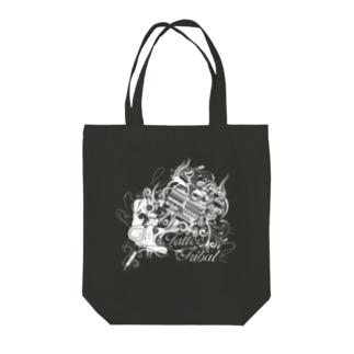 タトゥーマシントライバル Tote bags