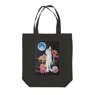 猫と曼珠沙華 Tote bags
