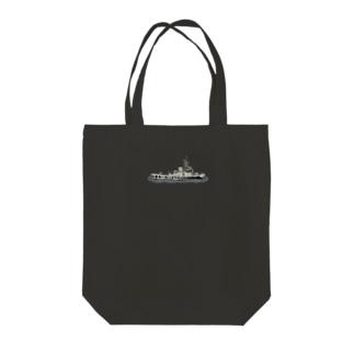 タグボート(スケルトン) Tote bags