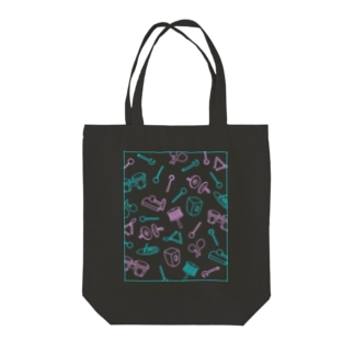 パーカッション(色違い) Tote bags