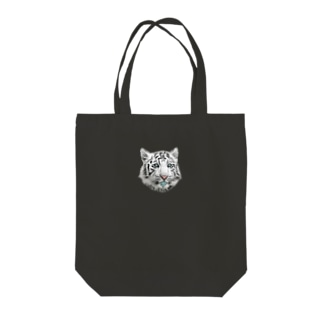 WHITE TIGER Tote bags