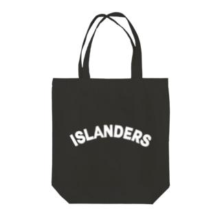 FUNNY JOKESのISLANDERS白ロゴ Tote bags