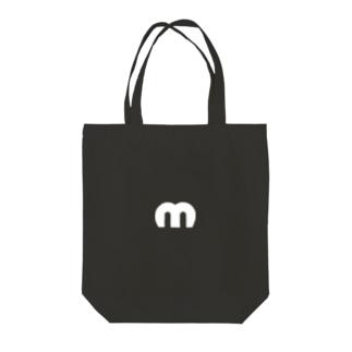 Mechuロゴ(白) Tote bags
