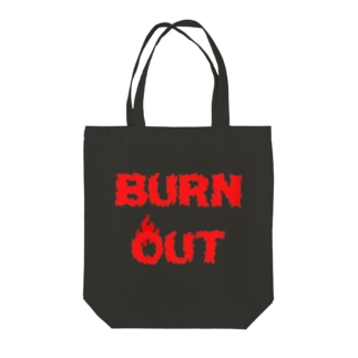 BURN OUT Tote bags