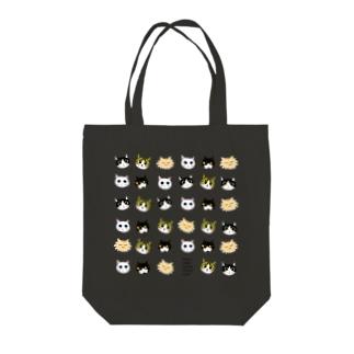 にゃんこオールスターズ顔!series Tote bags