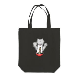 ラーメンねこ Tote bags