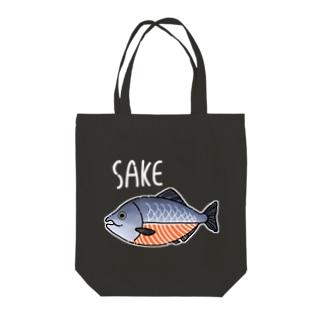 生きていない鮭 Tote bags