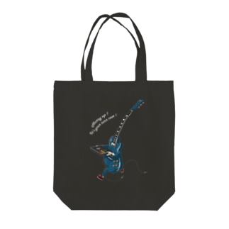Running Guiter (white ver.) Tote bags