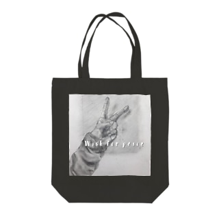 wish for peace 全面プリント Tote bags