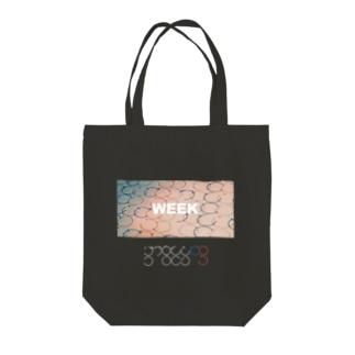 WEEK Tote bags