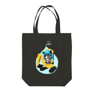 水道屋さんのAmoちゃん Tote bags