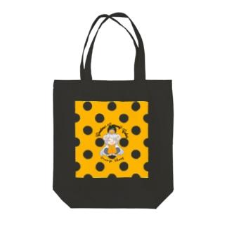 【ひつじのりさ】 トートバッグ design by 山内里紗 Tote bags