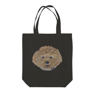Bless Hue のプードル (茶) Tote bags