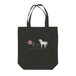 Spring Horse Tote bags