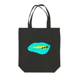 SCC DESIGN WORKSのくちびる Tote bags